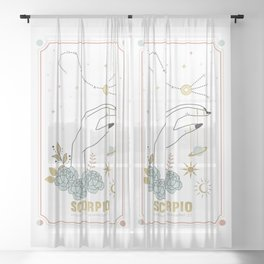 Scorpio Zodiac Series Sheer Curtain