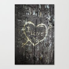 The Carving Tree - I Love You Canvas Print