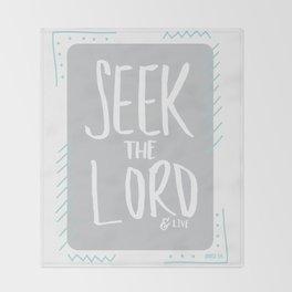 AMOS 5:6 Throw Blanket