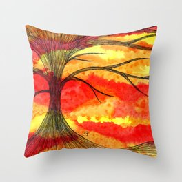 Volcanic End Throw Pillow
