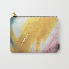 Ambition: a colorful abstract piece in bold yellow, blue, pink, red, and gold Carry-All Pouch