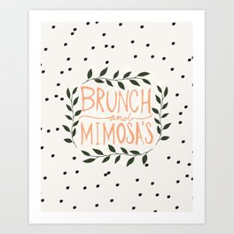Brunch and mimosas Art Print