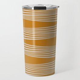 Wavy Stripes // Goldenrod Travel Mug