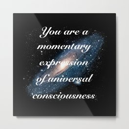 Momentary Expression of Universal Consciousness Metal Print