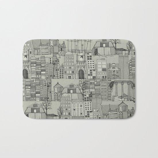 dystopian toile mono Bath Mat