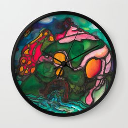 Risen from the Depths Wall Clock