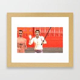 SquaReD: Opposition Framed Art Print