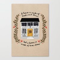 home sweet home Canvas Prints featuring Home by Phillippa Lola