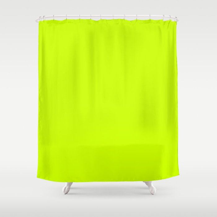 Bright green lime neon color Shower Curtain