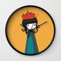 queen Wall Clocks featuring Queen by Volkan Dalyan