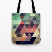green Tote Bags featuring tryypyzoyd by Spires