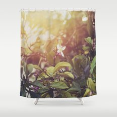 Lemon Flowers Shower Curtain