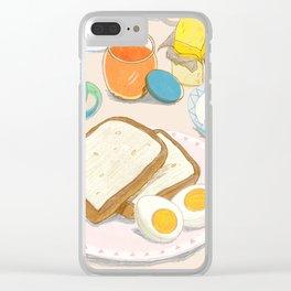 Peaceful Enjoyable Breakfast Clear iPhone Case