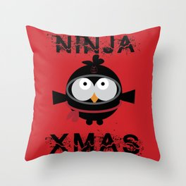 Ninja Xmas Throw Pillow