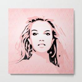 Britney Spears | Pop Art Metal Print