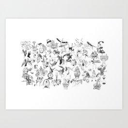 Ink Thougts Art Print