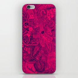 The Underbrush Pink and Blue iPhone Skin