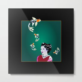 Koi's in and out of my Mind 2 Metal Print