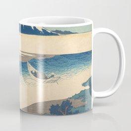 Hokusai Katsushika - The Tama River In Musashi Province Coffee Mug