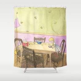 Goldilocks Sampling the Porridge Shower Curtain