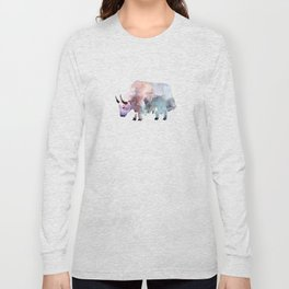 Wild yak / Abstract animal portrait. Long Sleeve T-shirt
