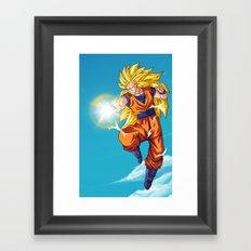 Goku SS3 Framed Art Print