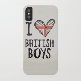 One Direction - I love British boys iPhone Case