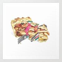 pie Art Prints featuring PIE by Gel Jamlang
