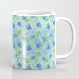 Blue & Green Tulips Coffee Mug