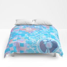 Bunny on Acid Comforters