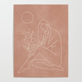 Engraved Nude Line I Poster