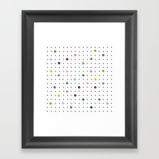 Pin Points Framed Art Print