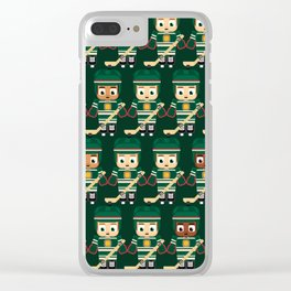 Super cute sports stars - Ice Hockey Green Clear iPhone Case