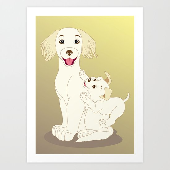 Mum, I Love You Art Print