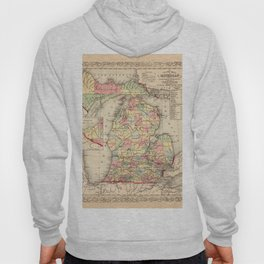 Map Of Michigan 1856 Hoody