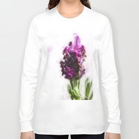 lavender Long Sleeve T-shirts featuring Lavender by Carmen Lai Graphics