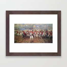 Charge of the Scots Greys at Waterloo Framed Art Print