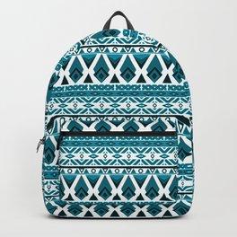 Blue white ornament Backpack