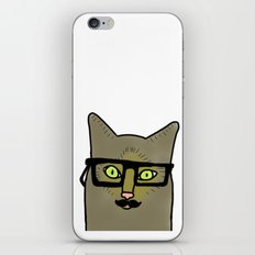 Professor Mustache Cat iPhone & iPod Skin