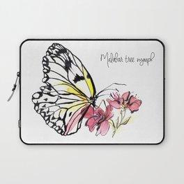 Malabar  Tree Nymph Butterfly Laptop Sleeve