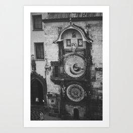 Astronomical Clock Art Print
