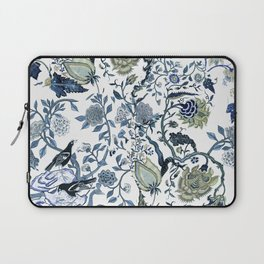 Blue vintage chinoiserie flora Laptop Sleeve