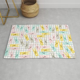 Clothes Peg Pattern Rug
