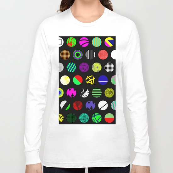Eclectic Circles - Abstract collage of random, colourful, bold, eclectic circles Long Sleeve T-shirt