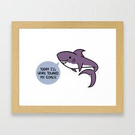 Purple shark. Framed Art Print