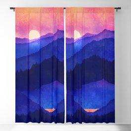 Cobalt Mountains Blackout Curtain
