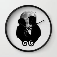 sterek Wall Clocks featuring Sterek by Sani Evans