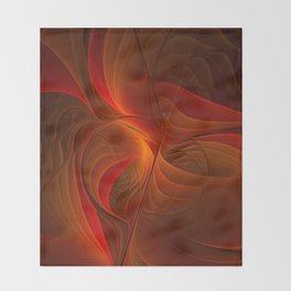 Warmth, Abstract Fractal Art Throw Blanket