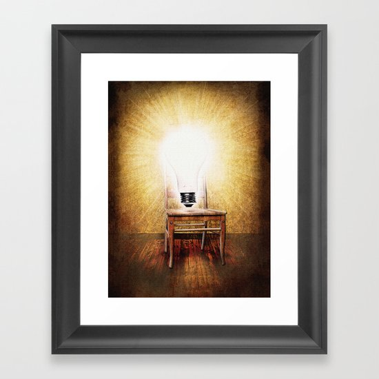 The Seat of Big Ideas Framed Art Print