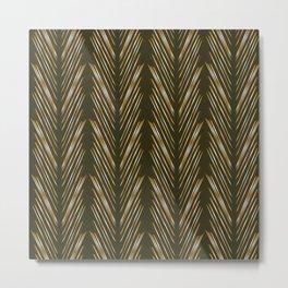 Wheat Grass Green Metal Print